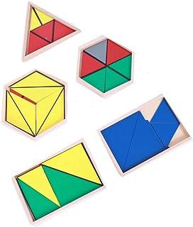 Sanwooden Interesting Toy Triangle Toy Montessori Triangle Preschool Children Sensory Training Kids Educational Toy Toys f...