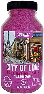 Spazazz SZCPA SPZ-301 Paris City of Love Destination Crystals Container, 22 oz. Aromatherapy, Fuscia