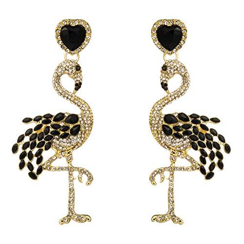 N-B Pendientes Creativos De Flamenco,Estilo Largo De Moda con Diamantes De Imitación,Pendientes De Mujer Personalizados,Pendientes De Aleación Exagerada Retro,Pascua,Regalos De Cumpleaños,Fiestas,