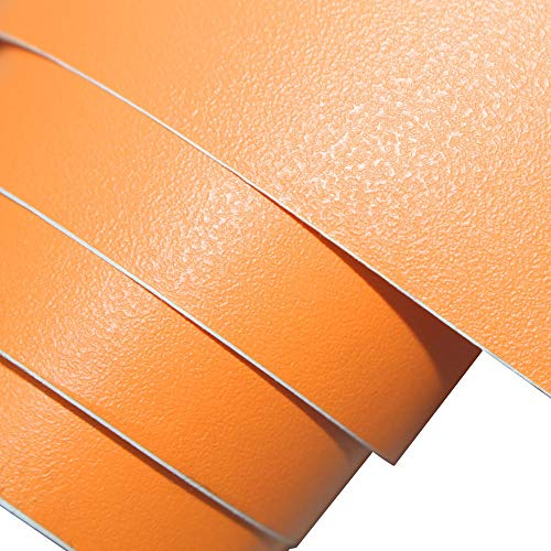 Papel pintado de vinilo para pared con relieve, papel pintado de color naranja mate texturizado, papel pintado autoadhesivo extraíble pele & Stick papel pintado para pared rollo de película