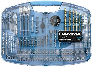 Kit de Brocas, Ponteiras e Serras Copo, Gamma Ferramentas G19517AC, Azul