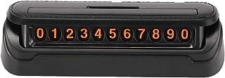 OurLeeme Schwarzes Auto, Telefonnummer, vorübergehender Parkplatz, Kennzeichenhalter für den Innenbereich