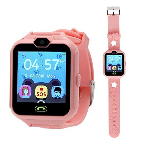 Winnes Smartwatch für Kinder, mit Touchscreen, mit Kamera, SOS-Taste, Smartwatch Rosa
