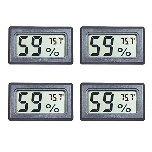 Veanic 4-Pack Mini Digital Electronic Temperature Humidity Meters