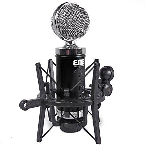 EMB EMC960 Professional High-Performance Multi-Pattern Large Diaphragm Condenser Project Studio Microphone BLACK