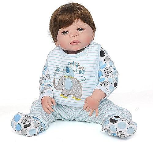 QXMEI Volle Silikon Vinyl Reborn Baby Doll Realistische Handgemachte Babys Puppen 22 Zoll 55 cm Lebensechte Kinder Spielzeug Kinder Geburtstagsgeschenk