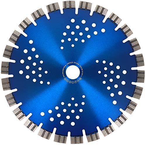 PRODIAMANT Disco de corte de diamante profesional, dentado corto, para hormigón, granito, láser, 230 x 22,23 mm, disco de diamante de 230 mm