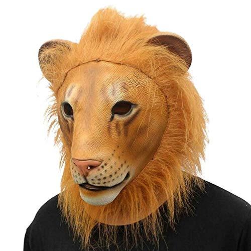 XWYWP Mscara de Halloween Mscara de Halloween Fiesta Cosplay Tigre Forma Divertido Bar Ltex Juego Props Disfraz Cabeza Tigre Len Mscara A