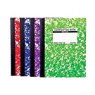 Mintra Office Composition Notebooks (Assorted Marble Comp - Wide Ruled, 4 Pack)
