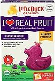 Little Duck Organics, Fruit Snacks Super Berries Organic 5 Count, 1.75 Ounce