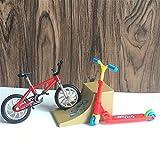 WE-WHLL Mini Scooter Scooter de Dos Ruedas Juguetes educativos para niños Scooter de Dedo Bicicleta Diapasón Patineta