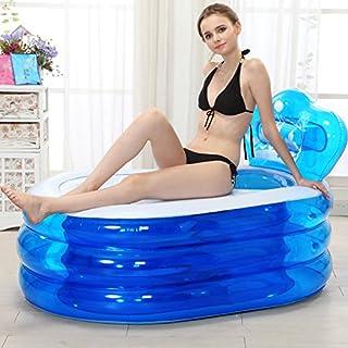 AINIYF Inflatable Bathtub Adult Tub Bath Barrel Plastic Children Bath Barrel Tub Dual Drainage Independent Three-Layer Inf...