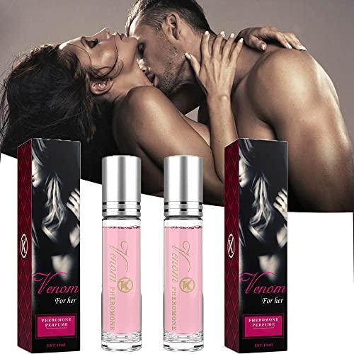 Perfume Erótico de Pareja Íntima de 2 Piezas, Perfume de Feromonas de Bellunamoon Romance, Perfume de Feromonas de Lujuria Flirtyaroma, Aroma Irresistible (Mujer)