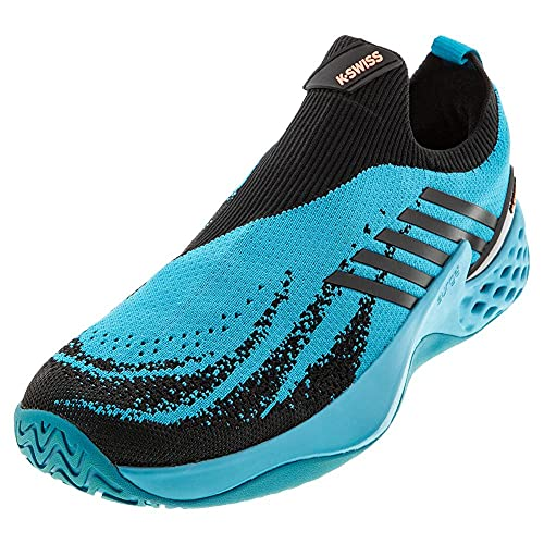 K-Swiss Performance Aero Knit, Zapatillas de Tenis Hombre, Azul (Algiers Blue/Black/Soft Neon...