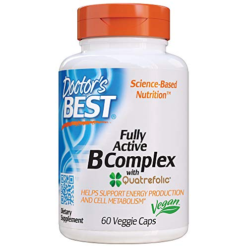 Doctor's Best Fully Active B Complex, Supports Energy, Nervous System, Optimal Health, Positive Mood & Well-Being, Non-GMO, Gluten Free, Vegan, Soy Free
