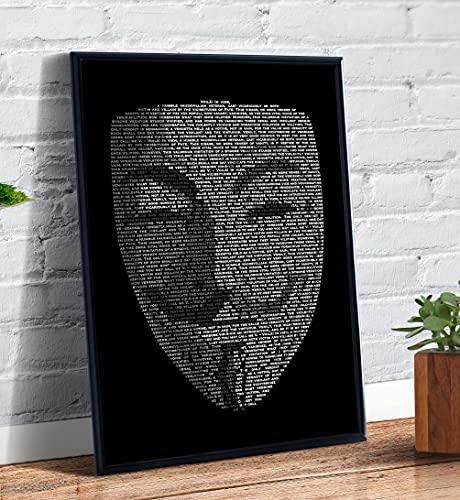 Quadro decorativo Poster Mascara V de Vingança Anonimous