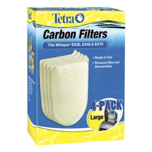 Tetra Carbon Filters, For Aquariums, Fits Tetra Whisper EX Filters, Large, 4-Count