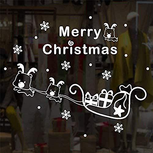 Diy Pvc Wandaufkleber Weihnachtswand Tapete Neujahrsfenster Glas Weihnachtsbaum Fenster Vinyl Wand Usa Weiß