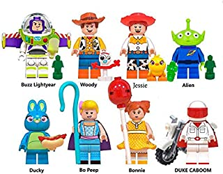 Toy Story 4 Action Figure Toys Set - Cartoon Building Hero Blocks Toy - Pack of 8 Premium Mini Figures Party Block Set - Perfect New Play Set Game 2019 for Children - Woody, Buzz, Jessie