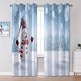 Cortina de puerta de 160 cm de largo, vista panorámica de la isla de Santorini Grecia, hermosas cortinas aislantes de verano para dormitorio, 106 x 160 cm, 2 paneles