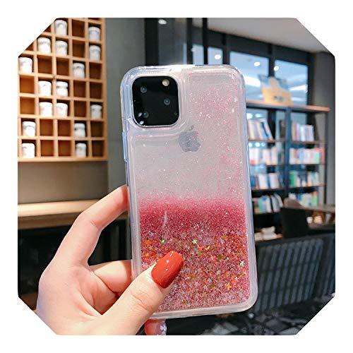 Liquid Quicksand Bling Glitter Funda para iPhone 11 Pro Max XS X XR 6 6S 8 7 Plus 5 5S SE Water Shine Silicona Cubierta iPhone 11