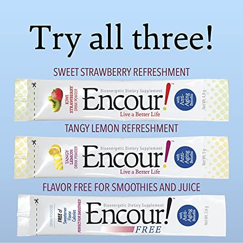 51vfCnuyGfS. SL500  - Encour! Bioenergetic Anti-Aging Supplement | Variety Pack 3 Flavors | Drink Powder Packs
