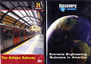 DVD The History Channel : Modern Marvels the Athens Subway , the Discovery Channel : Extreme Engineering Subways in America : All About the Subway System 2 Pack Book
