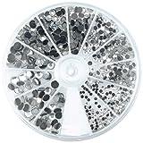 Rayher 15130801 Hotfix-Piedras de estrás, cristal de roca, surtido 2-5mm,box 580 pz