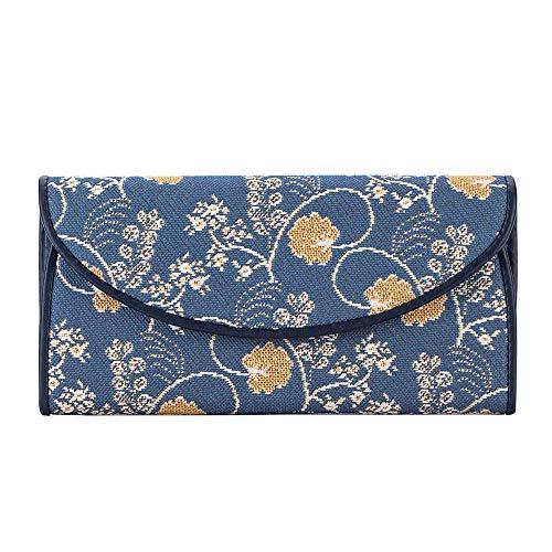 Signare Tapestry Arazzo portafoglio donna, portatessere donna, portafogli donna, Lady Wallet con Disegni Floreali (Austen Blue)