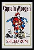 Captain Morgan Spiegel Rum Wandspiegel mit Schwarz [Import]