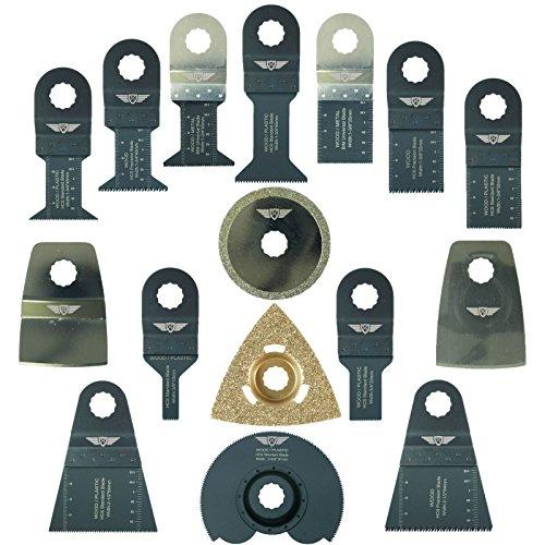 16 x TopsTools RVK16 Mix-Klingen Kompatibel mit Draper MT250A 23038, MT250 31328, Wickes 235510, Renovator Multifunktionswerkzeug Multifunktionswerkzeug-Zubehör