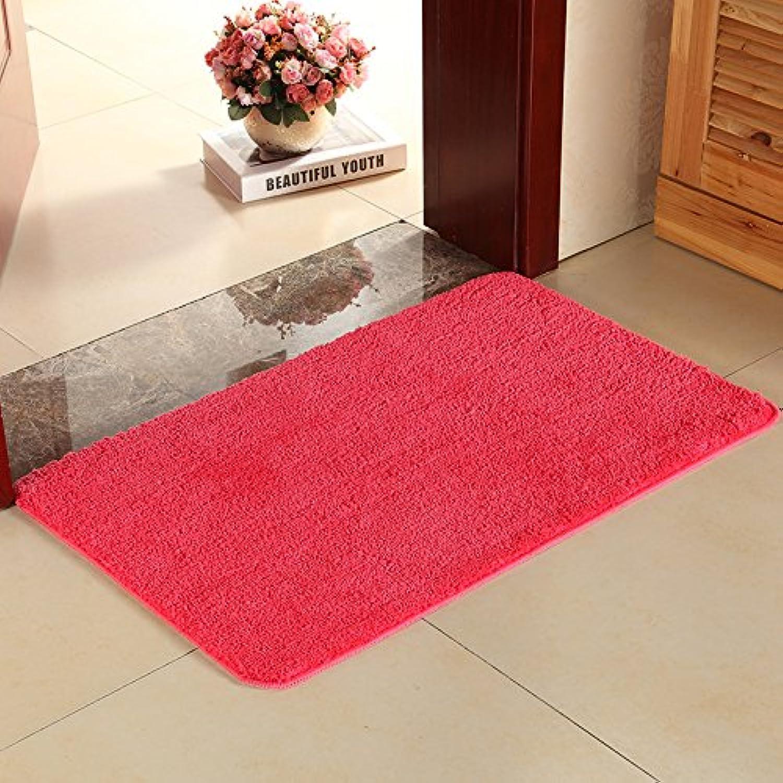 Solid color Entrance Door mat, Bathroom Antiskid mat Doormat Absorbent Bedroom Lobby Bedroom Household dust removal-G-60x90cm(24x35inch)