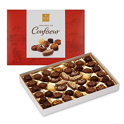 Frey Pralinés du Confiseur 500g - Assortierte Pralinen und Trüffel - Schweizer Premium Schokolade - UTZ zertifiziert - in eleganter Geschenk Box zu Weihnachten Geburtstag Dankeschön