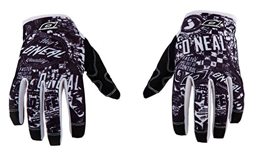 O \'Neal Herren Jump Wild Full Finger Mountain Enduro Motocross Dirt Bike Handschuhe, schwarz/weiß, X-Large