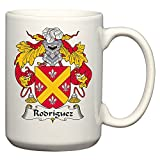 Rodriguez Coat of Arms/Rodriguez Family Crest 15 Oz Ceramic Coffee/Cocoa Mug by Carpe Diem Designs, Made in the U.S.A.