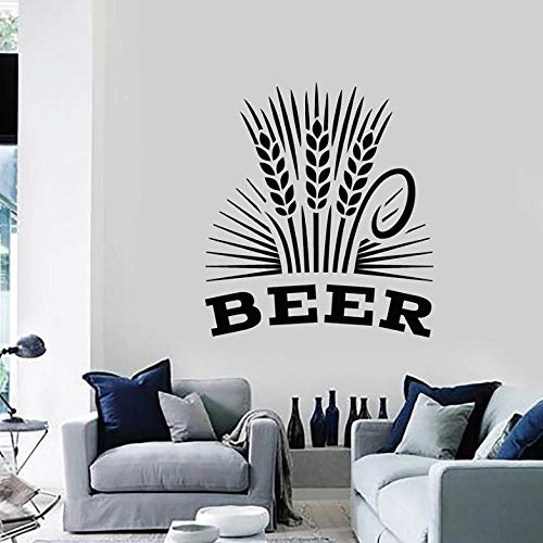 Muurstickers Decal Bier Muursticker Alcohol Drinken Pub Bar Brouwerij Schuim Molen Tarwe Vinyl Window Stickers Interieur Decor voor Woonkamer Mural
