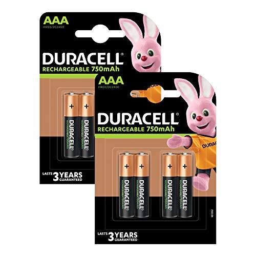 Duracell Recharge Plus AAA Micro Akku Batterien LR03 750 mAh, 8er Pack