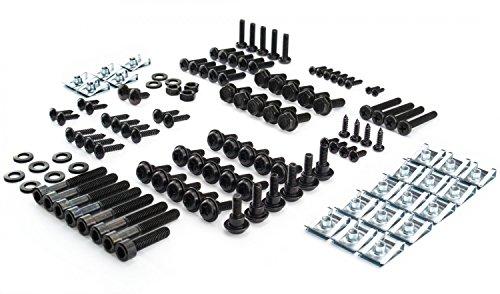 Verkleidungsschrauben Set für den Peugeot Speedfight 2 Schrauben in schwarz + Klemmen