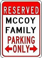 メタルサインサインマッコイ家族駐車場カスタマイズされた姓スズ駐車場サイン品質アルミニウム (1 セット)