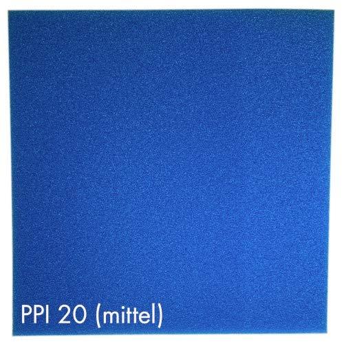 Pondlife Teich - Filterschaum/Filtermatte blau 100 x 100 x 5 cm mittel PPI20
