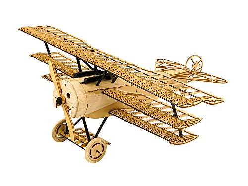 Dancing Wings Hobby Woodcraft Construction Kit, Laser Cut Balsa Wood Fokker DRI Airplane Model Building Kits, 3D Wooden Puzzles for Self-Assembly DIY Toy Gift For Kids, Teens and Adults