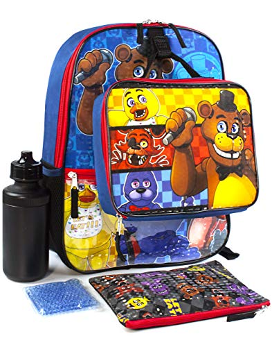 Five Nights at Freddy's FNAF Schul Rucksack Brotdose Wasserflasche 5-teilige