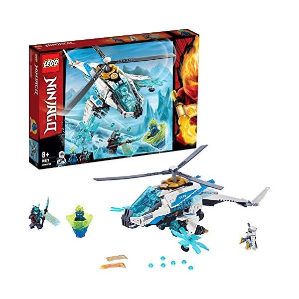 LEGO Ninjago - Shuricóptero Set de construcción de Helicóptero Ninja de juguete, incluye dos Samurais de juguete, Novedad 2019 (70673) , color/modelo surtido