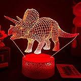 3D Animal Led Luz de noche Lámpara de ilusión de cabecera...