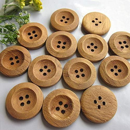 Topics on TV Sewing Button 144pcs 19.5mm 4 Khaki Super intense SALE Butt Wood Craft Holes