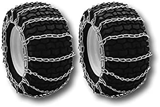 The ROP Shop Pair 2 Link TIRE Chains 26x12-12 for MTD//Cub Cadet Lawn Mower Tractor Rider