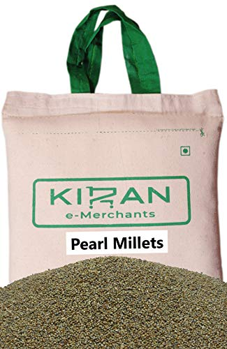 Kiran's Pearl Millets, Perlhirse (Geschält & Sortex gereinigt) Eco-friendly pack, 5 lb (2.27 KG)