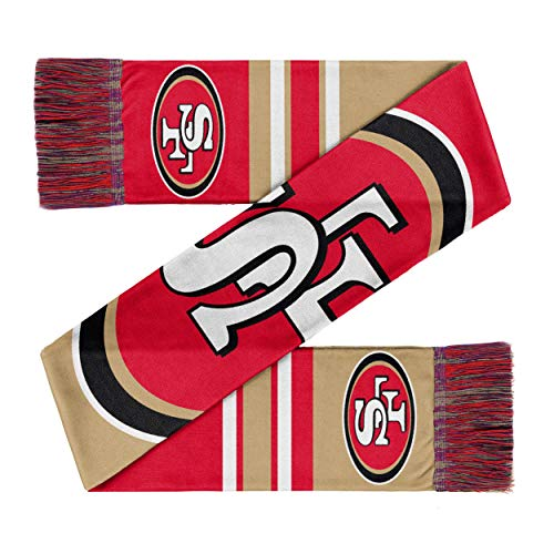 Forever Collectibles San Francisco 49ers Scarf Colourblock Big Logo Red/Beige - One-Size