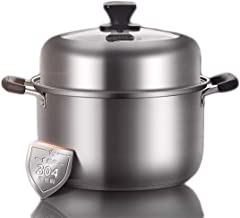 YYSM Soup Steamer 304 Stainless Steel Household Steamer Soup Pot Multi-layer Household Cooking Thickening Universal (Color...