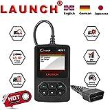LAUNCH CR4001 obd2 Auto Fehlercode Lesen,Diagnosegerät mit Funktionen Echtzeitdaten Speicherndaten I/M Readiness Status EVAP System O2 Sensor(VIN CID CVN) Deutsch